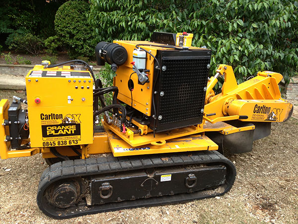 Stump Grinding in Surrey using the Carlton 7015